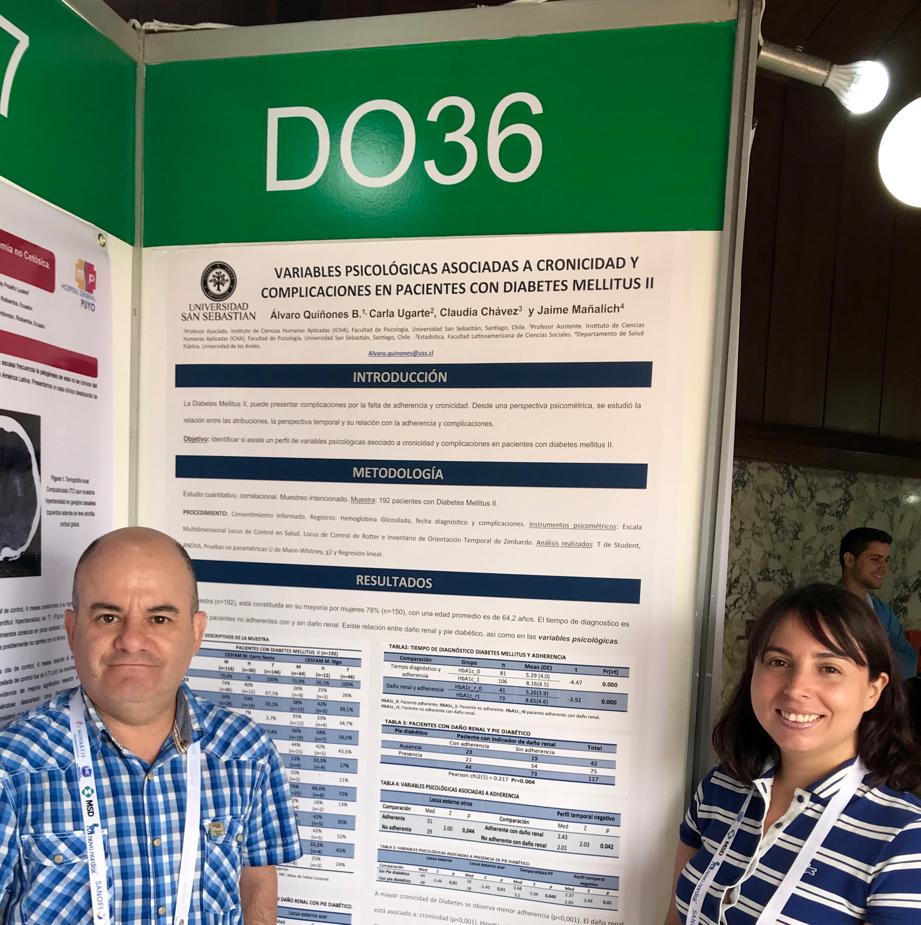 Investigadores de ICHA: Álvaro Quiñones y Carla Ugarte.