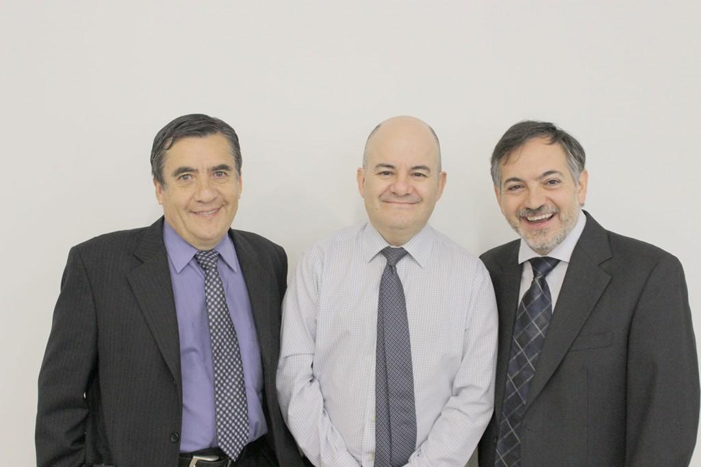 Rolando Ochandía, Álvaro Quiñones y Jordi Cid