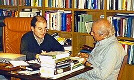Roma, abril de 1999. Álvaro Quiñones & Vittorio Guidano.