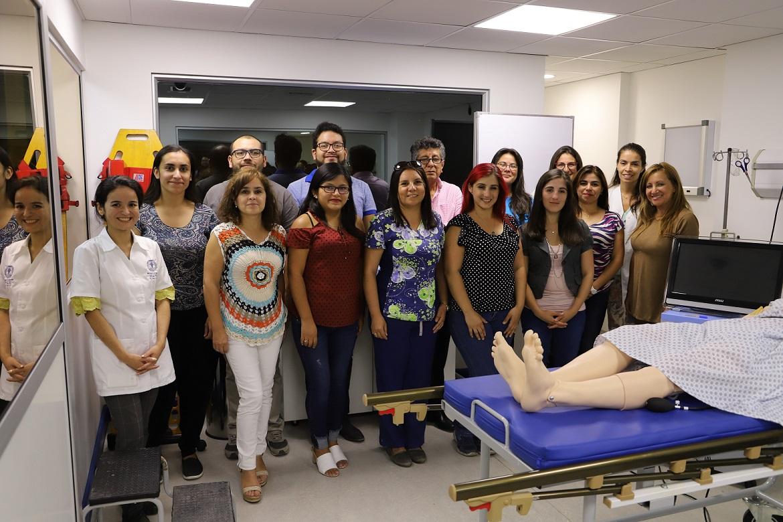 Durante el workshop se presentaron dos escenarios de simulación clínica.