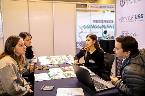 Dos días estuvo presente Postgrados Universidad San Sebastián en la Feria Continuidad de Estudios Educación Superior.
