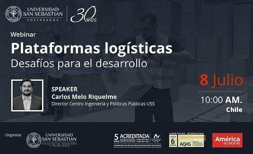 """La exposición """"Plataformas logísticas: Desafíos para el desarrollo"""" fue organizada por Univesidad San Sebastián y AméricaEconomía."""