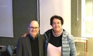 Álvaro Quiñones y María Teresa Miró (Ph.D). Campus de Guajara.